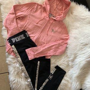Victoria's Secret pink sequinset sz medium NWT